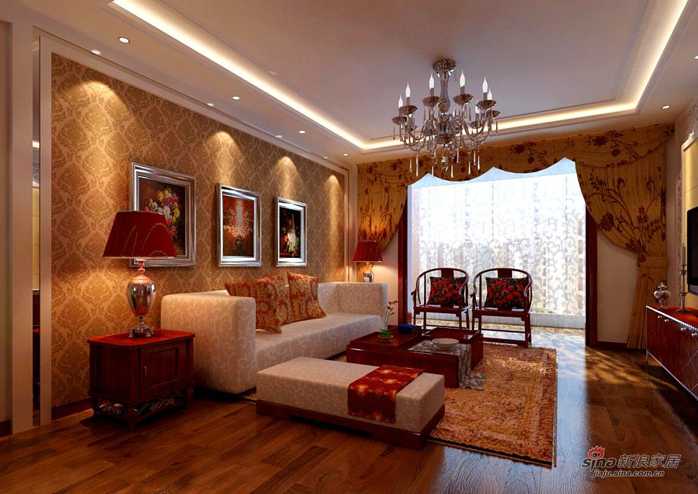 混搭 三居 客厅图片来自用户1907689327在清新古韵三居室79的分享