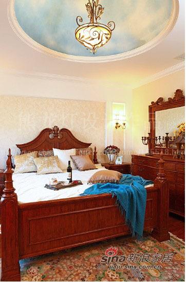 美式 别墅 卧室图片来自用户1907686233在让阳光在家中飞舞450平大别墅87的分享