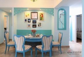地中海 二居 餐厅 照片墙 白富美图片来自家装大管家在【高清】8万装105平蓝白清爽地中海家72的分享