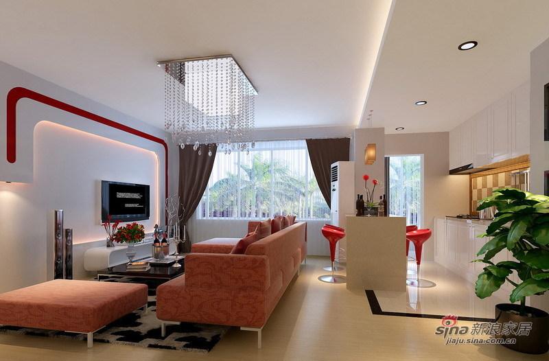简约 三居 客厅图片来自用户2738093703在5.7万营造110平明亮大方三居室47的分享
