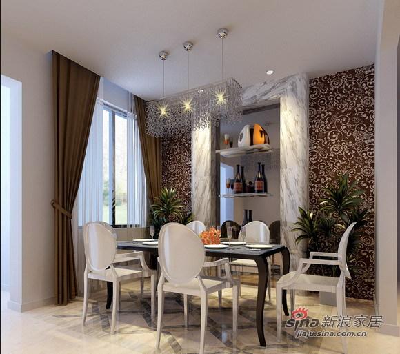 欧式 二居 餐厅图片来自用户2557013183在咖啡色为主流的简欧家居设计26的分享