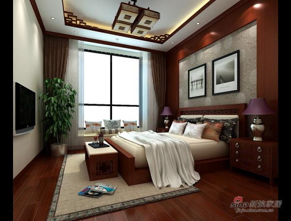 二层新中式风格主卧室