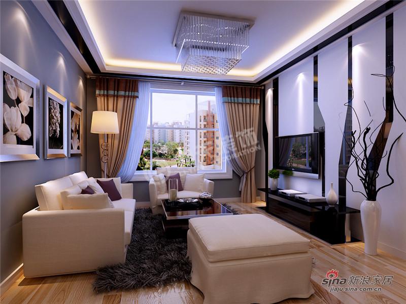 简约 三居 客厅图片来自阳光力天装饰在三室两厅现代简约风格家59的分享
