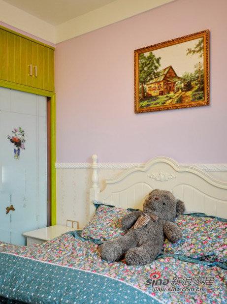 美式 三居 儿童房图片来自装修微日记在【高清】11万营造98平清新绿色美式混搭家32的分享