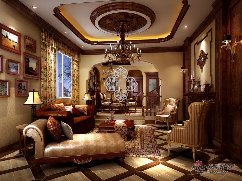 欧式 别墅 客厅图片来自用户2746953981在中信公园城_255别墅装修设计效果79的分享