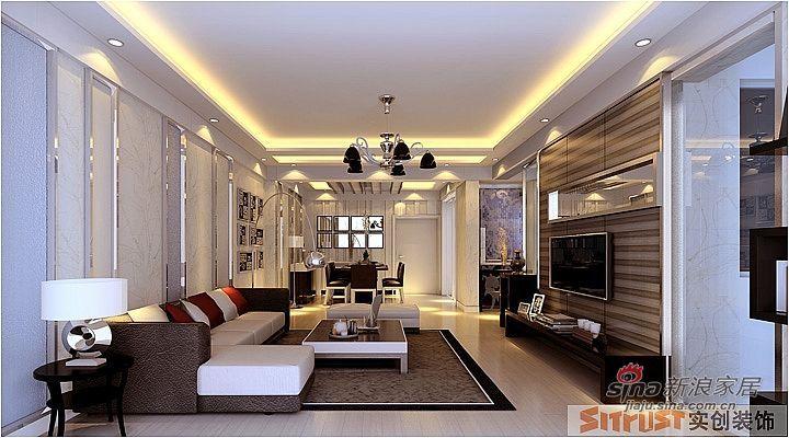 简约 三居 客厅图片来自用户2739378857在131平三居室装修设计案例75的分享