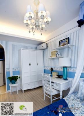 地中海 三居 卧室 小清新图片来自用户2756243717在【多图】三室两厅打造完美的地中海风情50的分享