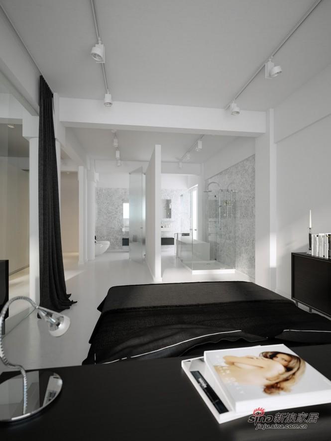 简约 三居 卧室图片来自用户2739081033在108平现代黑白时尚公寓28的分享