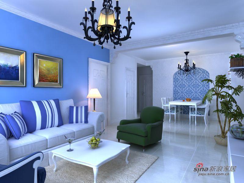 地中海 二居 客厅图片来自用户2756243717在女屌丝5万饰90平地中海式小清新78的分享