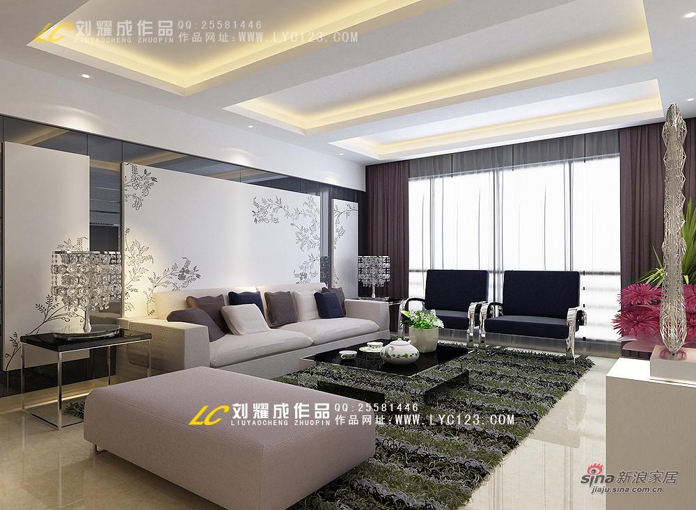 简约 四居 客厅图片来自用户2739378857在【高清】十全九美长沙万博会260平米四代同堂94的分享