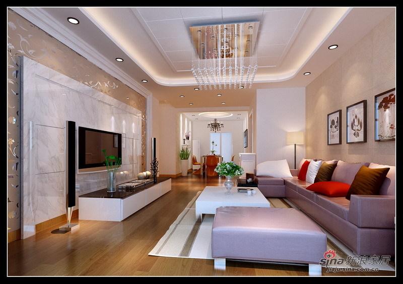 简约 三居 客厅图片来自用户2558728947在现代简约温馨三居18的分享