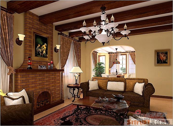 欧式 别墅 客厅图片来自用户2746953981在南郡香提雅诺奢华别墅装修44的分享