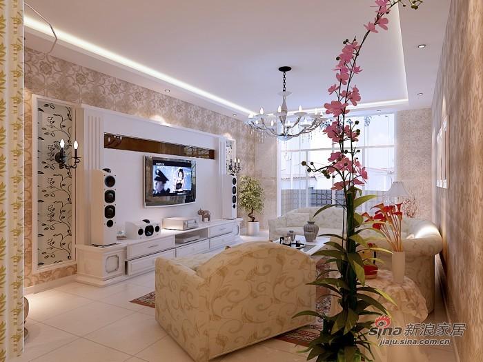 简约 三居 客厅图片来自用户2738813661在160平望京新城时尚现代3居98的分享