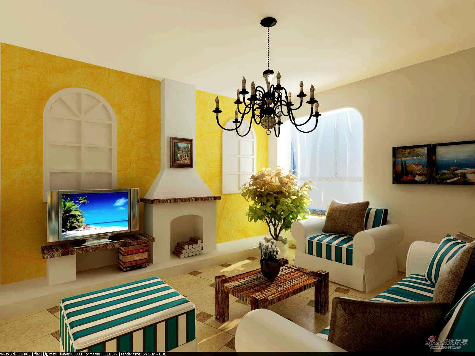 地中海 二居 客厅图片来自用户2757320995在沐浴阳光的地中海风格35的分享