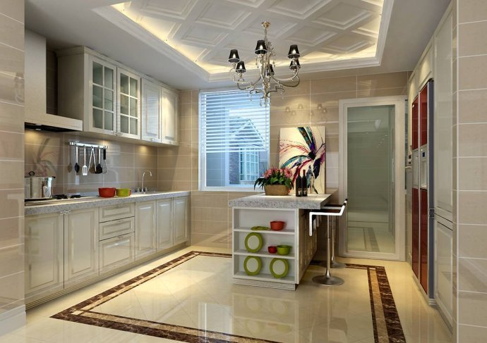欧式 三居 厨房图片来自用户2772873991在129平奢华欧式三居28的分享