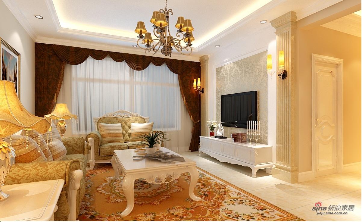欧式 四居 客厅图片来自用户2746953981在130平简欧风格装修56的分享