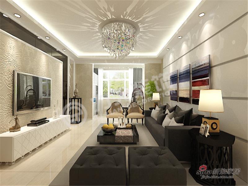 简约 三居 客厅图片来自阳光力天装饰在保利玫瑰湾-三室两厅两卫一厨-现代简约51的分享