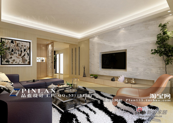 简约风格客厅电视背景墙设计
