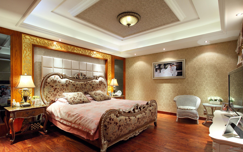 欧式 别墅 卧室图片来自用户2772856065在【高清】380平跃层新古典大豪宅86的分享