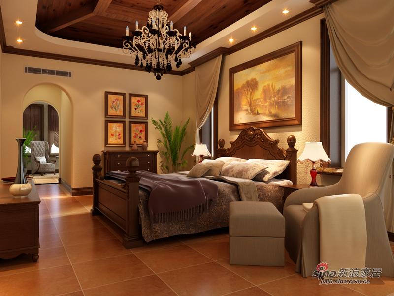 美式 别墅 卧室图片来自用户1907686233在美式乡村返璞归真22的分享
