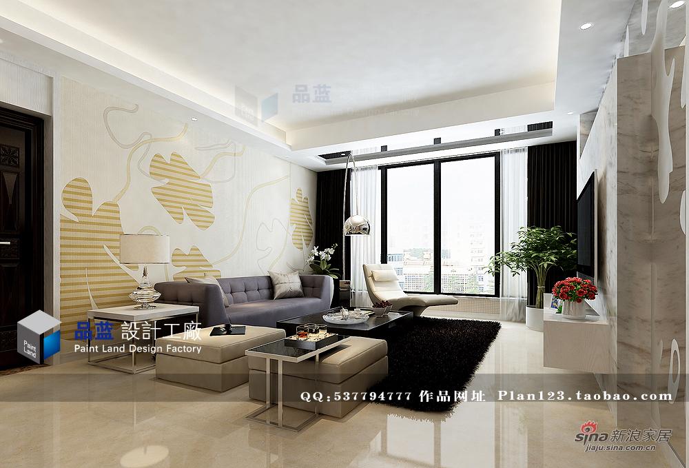 简约 三居 客厅图片来自用户2738093703在【高清】品质生活125平米样板房90的分享