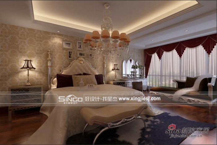 欧式 别墅 卧室图片来自用户2745758987在浪漫精美 欧式别墅装修53的分享