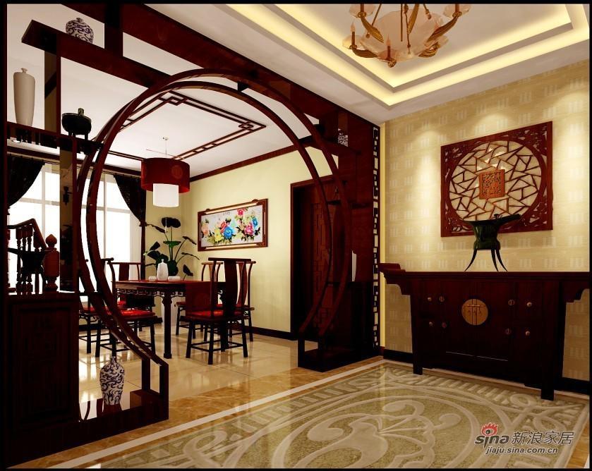 中式 复式 客厅图片来自用户2757926655在中式风格家居设计20的分享