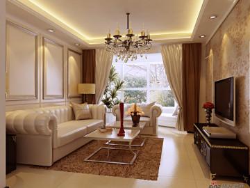 150平欧式客厅装修美图87