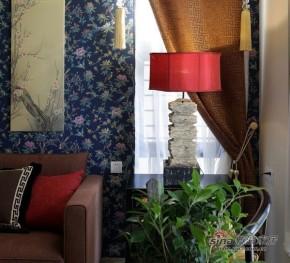 中式 三居 客厅 文艺青年图片来自家装大管家在【高清】126平中国风时尚中式3居室57的分享