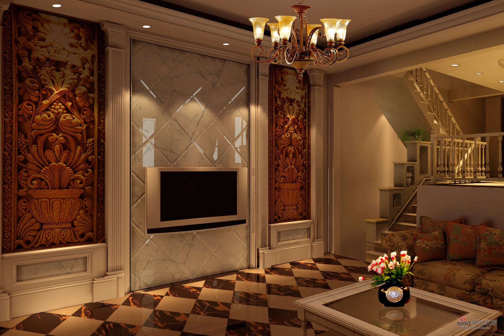 欧式 别墅 客厅图片来自用户2746948411在别墅的欧式美41的分享
