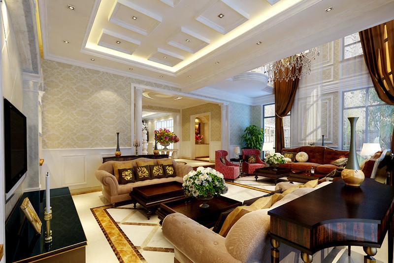 欧式 别墅 客厅图片来自用户2746948411在23万打造现代奢华的别墅大宅设计98的分享