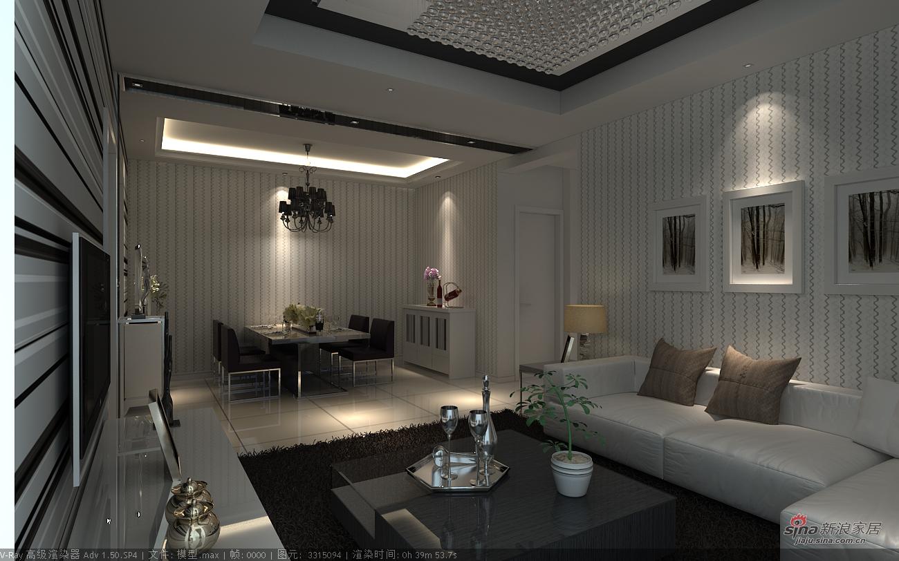 其他 二居 客厅图片来自用户2737948467在艺术黑白85平感观2居86的分享