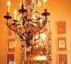 """""""简而不单""""的书房,吊灯干净明亮,亚麻的灯罩古色古香,酝酿诗词般的灵秀气韵"""