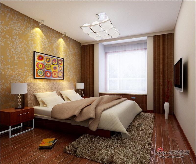 混搭 二居 卧室图片来自用户1907691673在5.8万打造98平另类的简约现代风44的分享