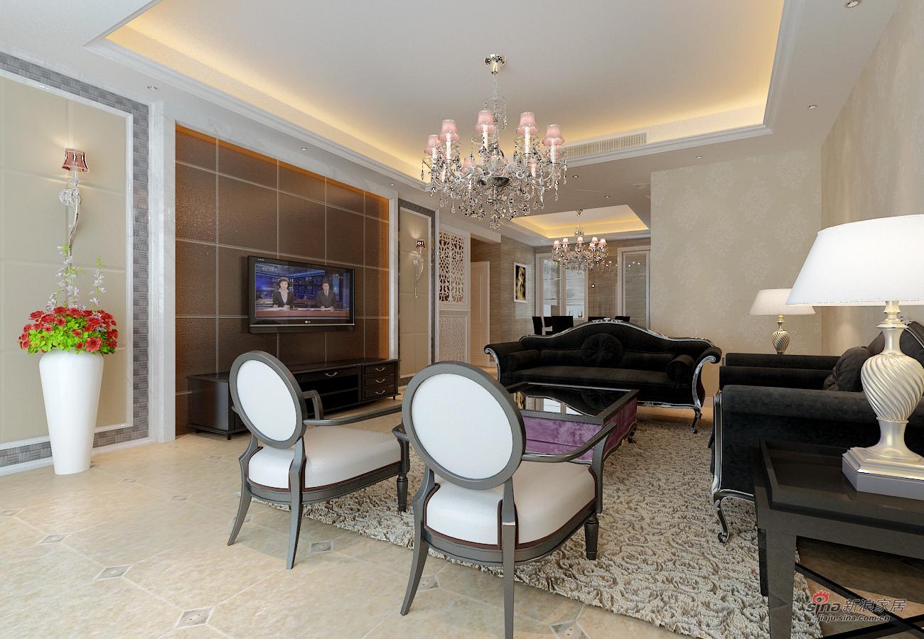 欧式 四居 客厅图片来自用户2772856065在现代城148平古典欧式4居81的分享