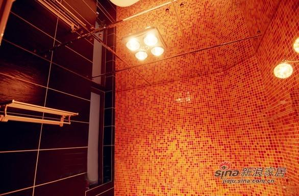 混搭 三居 卫生间图片来自用户1907689327在10万装87平时尚多彩三居小错层79的分享