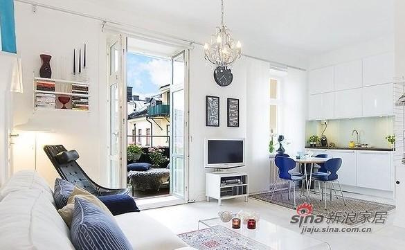简约 一居 客厅图片来自用户2557979841在百变大咖秀40平蓝白极简公寓21的分享