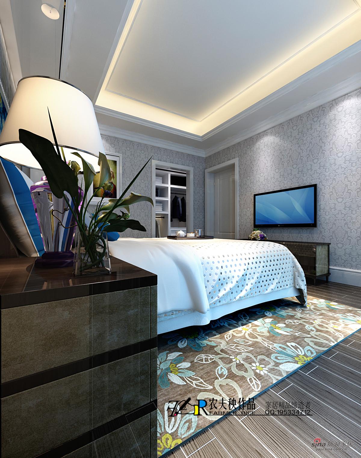 欧式 三居 卧室图片来自用户2772873991在155平米简约欧式390的分享