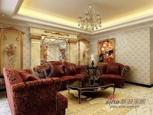 欧式 二居 客厅图片来自阳光力天装饰在85平米时尚高贵两居室57的分享