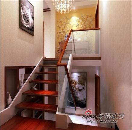 中式 三居 楼梯图片来自用户1907662981在12万装朝阳148平复式新中式3居室36的分享