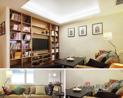 简约 二居 客厅图片来自用户2557979841在5万装89平暖意超2居美家30的分享