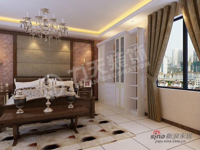 欧式 三居 卧室图片来自阳光力天装饰在福晟钱隆城129平米简欧11的分享