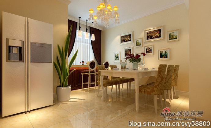 欧式 四居 餐厅图片来自用户2746889121在海归打造简欧风格幸福时代四居室93的分享