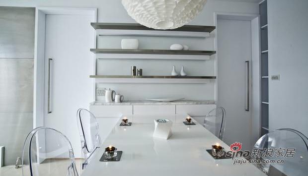 北欧 二居 餐厅图片来自佰辰生活装饰在小两口72平现代北欧极简小空间48的分享