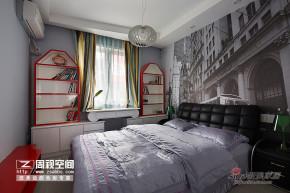 混搭 二居 卧室 文艺青年图片来自杭州周视空间设计机构在【多图】老房改80平惊艳玩味撞色98的分享