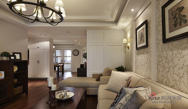 美式 三居 客厅图片来自装修微日记在【高清】155平含蓄之道沉稳美式3居95的分享