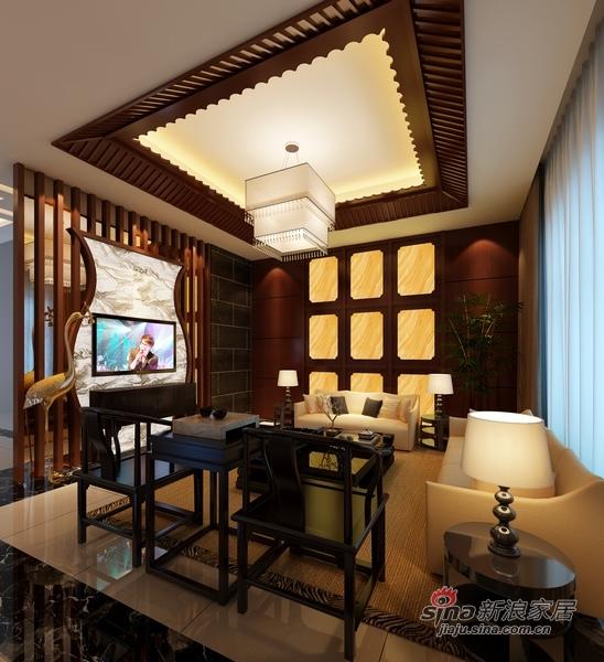 中式 别墅 客厅图片来自用户1907659705在中西合璧造300平至尊豪宅87的分享