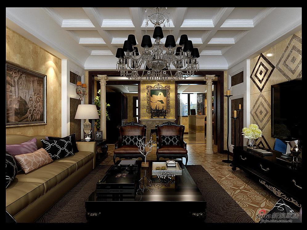 欧式 四居 客厅图片来自用户2772856065在180平欧式豪宅案例81的分享