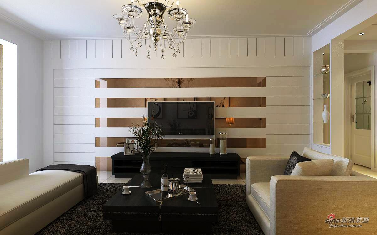 简约 三居 客厅图片来自用户2739081033在现代简约效果图~金地朗悦41的分享