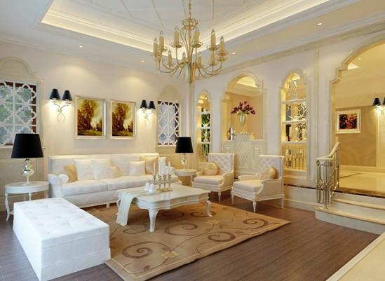 欧式 别墅 客厅图片来自用户2772856065在280平 高贵奢华欧式风90的分享